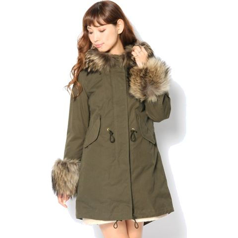 OLMETEX CUFFS FUR MODS COAT (LITHIUM FEMME)